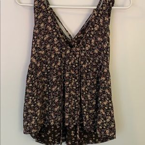 American Eagle strappy peplum tank top